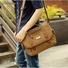 ราคา Allday Cv15 Brown กระเป๋าสะพายข้าง ผ้าแคนวาส Mo Y สีน้ำตาล กระเป๋าสะพายไหล่ กระเป๋าผู้ชาย