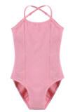ขาย ไซเบอร์ Arshiner สาวแขนกุดยืดหยุ่น Dancewear ยิมนาสติกบัลเล่ต์กางเกงแนบเนื้อที่พวกเล่นละครสวมปรับได้ สีชมพู ถูก