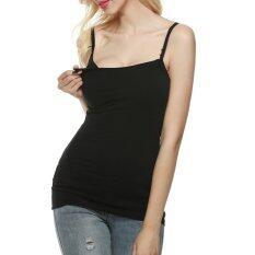 Cyber Arshiner คลอดบุตรเสื้อกล้ามเลี้ยงลูกแม่ Breast Feeding เสื้อผ้า (สีดำ) - Intl.