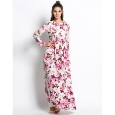 ซื้อ Cyber Graceful Floral Print Formal Party Long Maxi Dress Multicolor