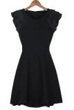 ขาย Cyber Sleeveless Women Chiffon Mini Dress Casual Work Party Black ผู้ค้าส่ง