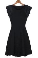 ซื้อ Cyber Sleeveless Women Chiffon Mini Dress Casual Work Party Black ถูก ใน ฮ่องกง