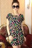 ส่วนลด Cyber Women Fashion Sleeve Loose Mini Dress Party Mini Dresses Multicolor Thailand