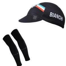 โปรโมชั่น Super D Shop หมวกแก็ปจักรยาน Bianchi กันเหงื่อ กันแดด ผ้าระบายกาศดี Gap1 Free Size Aqua X ปลอกแขนกันแดด กันยูวี สีดำ Free Size ไทย
