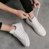 ส่วนลด รองเท้าสีขาวรองเท้าสีขาวชายฤดูร้อนใหม่ D11 สีขาว Unbranded Generic
