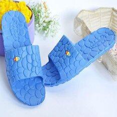 ราคา D118 บ้านสีน้ำเงินรองเท้าบุรุษสตรีรองเท้าเป็นรองเท้าแตะรองเท้าแตะสไลด์ฝักบัวอาบน้ำ เป็นต้นฉบับ