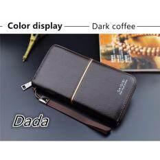 ขาย Dada Fashion High End New พรีเมี่ยมกระเป๋าถือกระเป๋าสตางค์หนัง (Dark Coffee) ใหม่