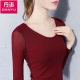 ราคา Danyu ใหม่แขนยาวหญิงเสื้อยืด ม่วง ราคาถูกที่สุด