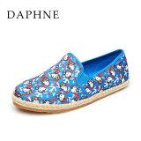 ซื้อ Daphne รองเท้าน่ารักรองเท้าพิมพ์ทอตั้งเท้า สีฟ้า 114 ออนไลน์ ถูก