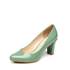 ราคา Daphne หญิงรองเท้าหนังสิทธิบัตรพร็อพฤดูใบไม้ผลิใหม่ สีเขียว 128 Unbranded Generic ออนไลน์