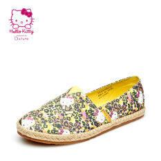 ราคา Daphne หวานเสือดาวฤดูใบไม้ผลิรุ่นพิมพ์รองเท้ารองเท้าเดียว สีเหลือง 131 ฮ่องกง