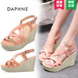 ราคา Daphne เกาหลีรองเท้า Rhinestone ส้นสูงรองเท้าแตะสะดวกสบาย 125 ผงสีส้ม ออนไลน์