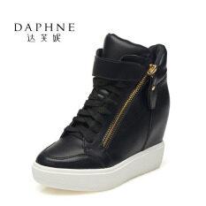 ราคา ราคาถูกที่สุด Daphne รองเท้าหุ้มข้อส้นเตารีดผู้หญิง สีดำ สีขาว สีดำ สีดำ