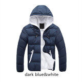 ขาย Dark Blue White Splice 2017 New Arrived Autumn Winter Duck Down Jacket Hooded Winter Jacket For Men Fashion Mens Joint Outerwear Coat Plus Size Intl Unbranded Generic ใน จีน