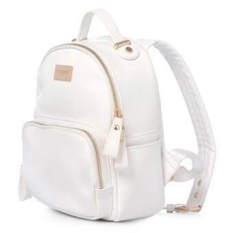 แนะนำ DAVIDJONES Genuine Leather Small Mini Backpack