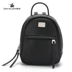 ราคา Davidjones Women Mini Backpack Female Pu Shoulder Bags Black Intl ใน จีน