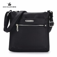 โปรโมชั่น Davidjones Women Pu Shoulder Bags Purse Bag Femal Messenger Black Intl ใน จีน