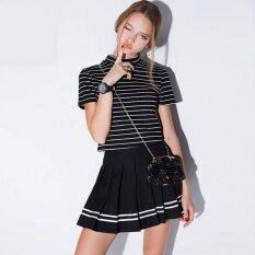 ความคิดเห็น Daxad กางเกงขาสั้นผู้หญิง กางเกงกระโปรง กระโปรงเทนนิส กระโปรงแฟชั่น สีดำ
