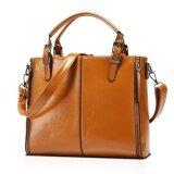 ราคา Dd Mall The New 2016 Women Handbag In Europe And The United Lady Handbags Pu Leather Female Shoulder Bag Brown Dayqtl Color As First Picture Intl ราคาถูกที่สุด