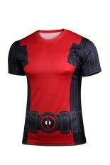 Deadpool X Men Casual Fashion Cotton Printed Short Sleeved Mens T Shirt Red Black Thailand