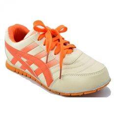 ขาย Design รองเท้าผ้าใบหนัง ผู้หญิง Design รุ่น Zf60027 สีครีม ผู้ค้าส่ง