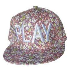โปรโมชั่น Diamond หมวกแก๊ป Style Hiphop รุ่น Pink ลายดอกไม้สีชมพู