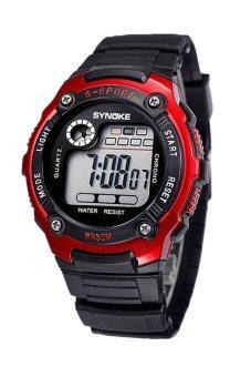 Led ดิจิตอลกันน้ำสีแดงนาฬิกา