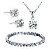 ส่วนลด Diva Designs Austrian Crystal 4 Prong Necklace And Earring And Bracelet Set With 18 Inch Link Chain And Extender เซทคริสตัลสร้อย กำไล ต่างหู