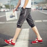 ทบทวน ชายฤดูร้อนส่วนบางผู้ชายกางเกงลำลองกางเกง Dk47 W สีเทาเข้ม Jvr