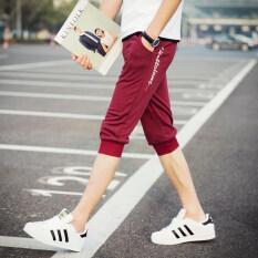 ซื้อ ชายฤดูร้อนส่วนบางผู้ชายกางเกงลำลองกางเกง Dk47 W ม่วง Jvr