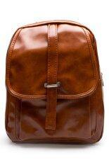ขาย ซื้อ ออนไลน์ Dm กระเป๋าเป้หนัง ฺbk สีน้ำตาล