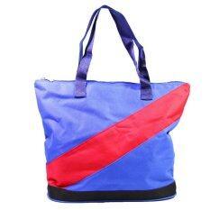 ราคา Dm กระเป๋าสะพาย Shopping สีน้ำเงิน Thailand