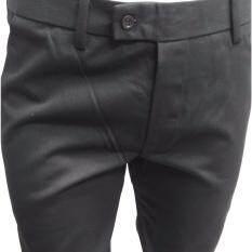 ขาย กางเกงผู้ชาย Dodg สแลคสีดำชาย ขากระบอกเล็ก ผ้ากำมะดิน