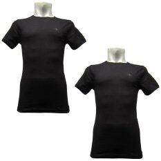 ซื้อ Domon Innerwear เสื้อชั้นในชายคอกลม Domon 2 ตัว 1 เซ็ต ดำ 2 ตัว ถูก ใน กรุงเทพมหานคร