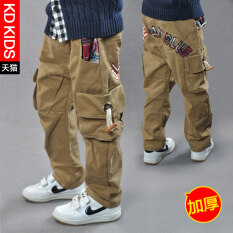 ราคา โปรโมชั่นสบายๆกางเกงเกาหลีและฤดูหนาวเสื้อผ้าเด็กผู้ชาย หนาภายในบวกกำมะหยี่ Dongkuan ใหม่ ถูก