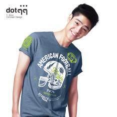 ราคา Dotdotdot เสื้อยืดผู้ชาย Concept Design ลาย American Football Blue เป็นต้นฉบับ Dotdotdot