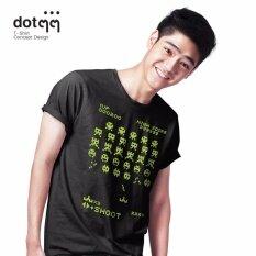 ทบทวน Dotdotdot เสื้อยืดผู้ชาย Concept Design ลาย Game Black