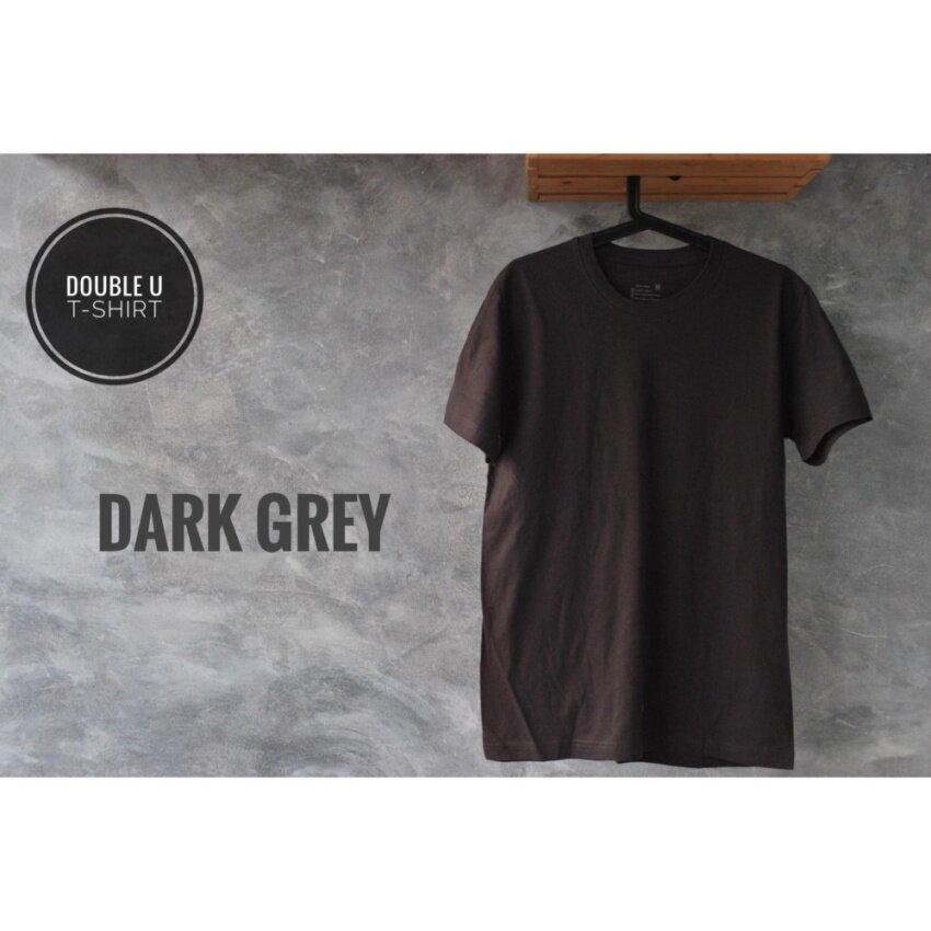 แนะนำจาก pantip  Double U T-Shirt เสื้อยืดสีพื้น Dark Grey (สีดำอมเทา) หากคุณกำลังเลือกหา   Mens Casual Tops