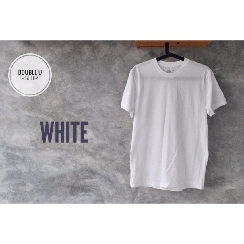 สินค้ามาใหม่ Double U T-Shirt เสื้อยืดสีพื้น White (สีขาว) คุณภาพเจ๋ง!!! ราคาถูกมาก!!! เราอยากนำเสนอ ของ สินค้ากับร้านที่เราแนะนำ จากร้านค้า Online ที่ถู๊กถูกและเยี่ยมที่สุดในไทย!!! Mens Casual Tops