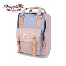 ราคา Doughnut Macaroon Unisex Waterproof Nylon Backpack Light Blue X Ivory Intl ถูก