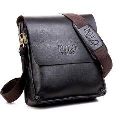 โปรโมชั่น Videng Polo กระเป๋าหนังสะพายไขว้ สำหรับผู้ชาย 8865 1 ส่วนแนวตั้งทรัมเป็ตสีดำ 8865 1 ส่วนแนวตั้งทรัมเป็ตสีดำ ใน ฮ่องกง