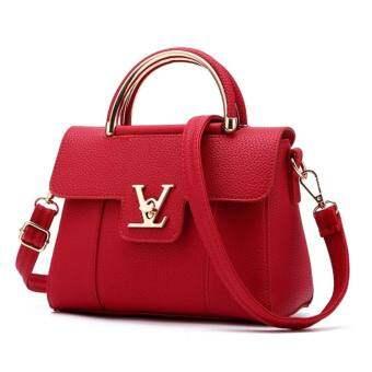 Dream Fashionกระเป๋าสะพายข้าง กระเป๋าเป้ผ้าไนลอน V2- (Red)