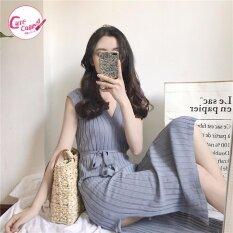 ส่วนลด Dress เดรส เดรสเข้ารูปทรงยาว สีเทา ผ้ายืดหยุ่น ใส่แล้วดูหุ่นเรียวขึ้น มีvideoสินค้าจริง Cute Calling Thailand