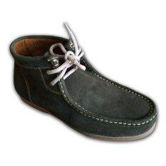 ราคา ราคาถูกที่สุด Duke รองเท้าหนังแท้ Leather Men Shoes รุ่น 980Double K Green