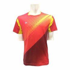 DUNLOP เสื้อกีฬา รุ่น D MEN T-SHIRTS (สีแดง/สีเหลือง)