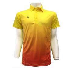 DUNLOP เสื้อกีฬา รุ่น D MEN POLO  (สีเหลือง/สีส้ม)
