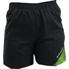 ซื้อ Dunlop กางเกงแบดมินตัน รุ่น Badminton Shorts สีดำ สีเขียว ไทย
