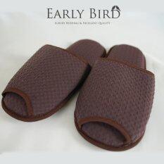 ราคา Early Bird Bedding รองเท้าสลิปเปอร์ รังผึ้ง สีน้ำตาล Early Bird Bedding ใหม่