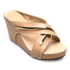 ราคา Ease รองเท้าส้นเตารีด รุ่น 18 125 Tan เป็นต้นฉบับ