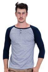 ขาย ซื้อ Ease Basics เสื้อยืดผู้ชายแขนยาว Blue ใน ไทย